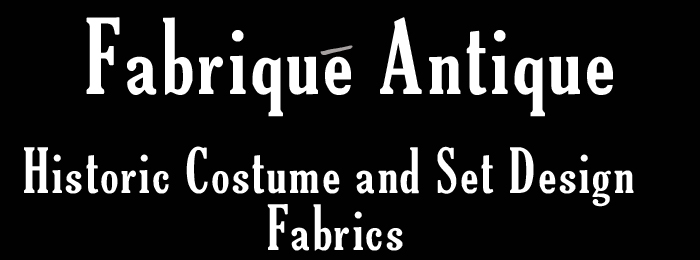Period fabrics and ceramics for costume and set designers