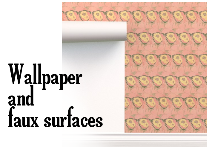 wallpapers and faux surfaces for set design